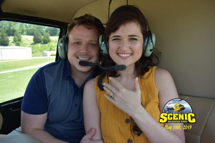 Wedding Proposal Ideas in In a helicopter going through the Smokey Mountains, Gatlinburg, TN