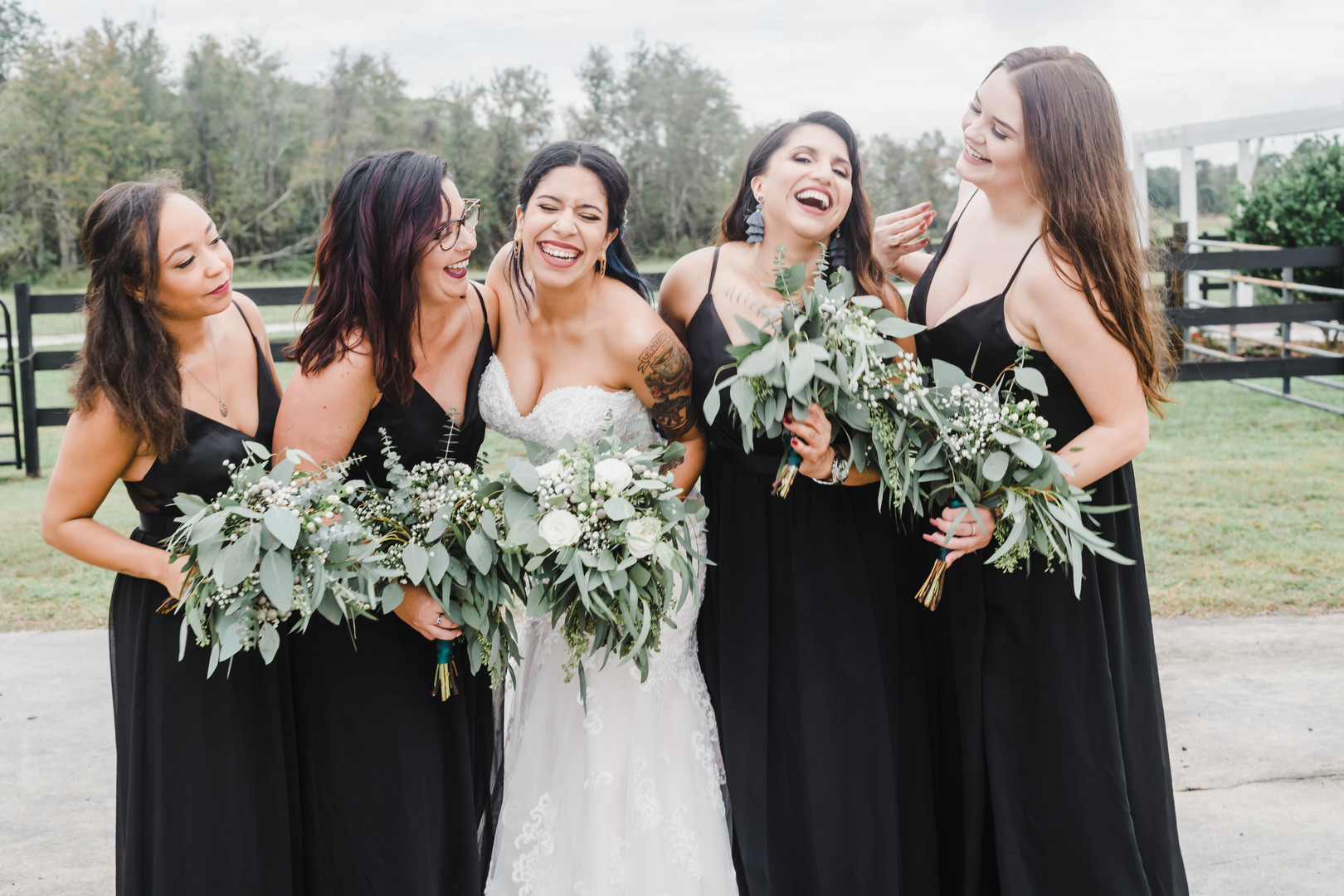 ask your bridesmaids while dress shopping