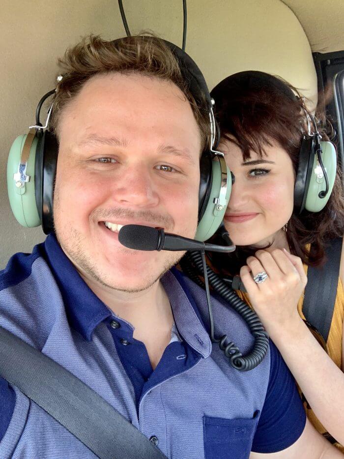 Proposal Ideas In a helicopter going through the Smokey Mountains, Gatlinburg, TN