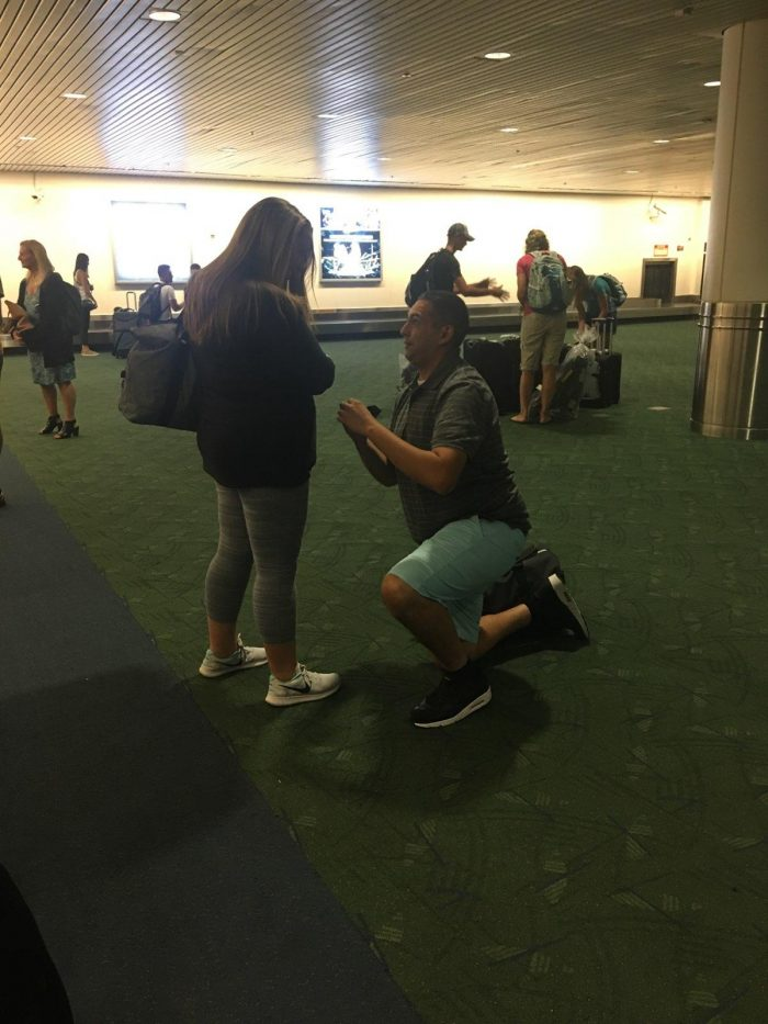 Whitney's Proposal in Portland Airport