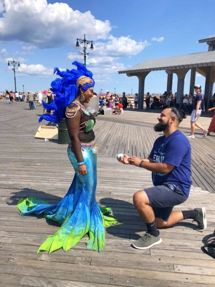 Wedding Proposal Ideas in Coney Island - New York at the Mermaid Parade