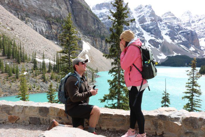Where to Propose in Moraine Lake, Banff, Alberta, Canada