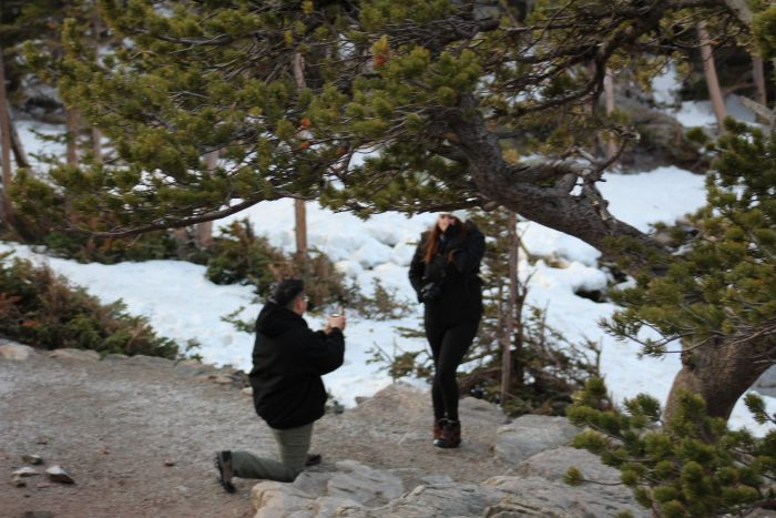 Wedding Proposal Ideas in Dream Lake, Rocky Mountain National Park, Colorado