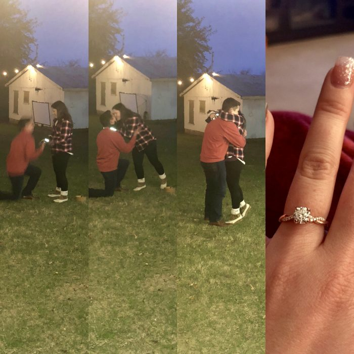 Rebecca's Proposal in B&B's First Annual Hog Roast (on our farm)