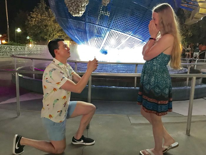 Roxie and Troy's Engagement in Universal Studios Globe, Orlando, Florida