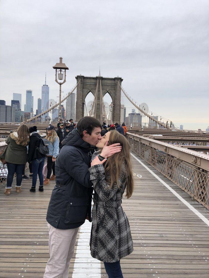 Emily's Proposal in Brooklyn Bridge