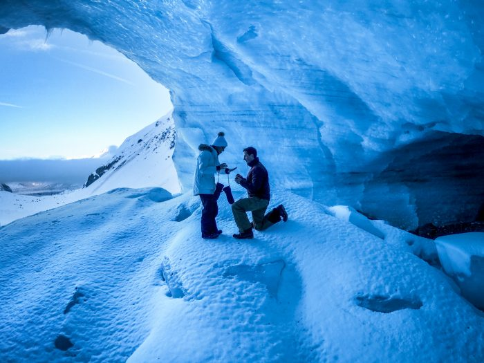 Where to Propose in Byron Glacier, Alaska