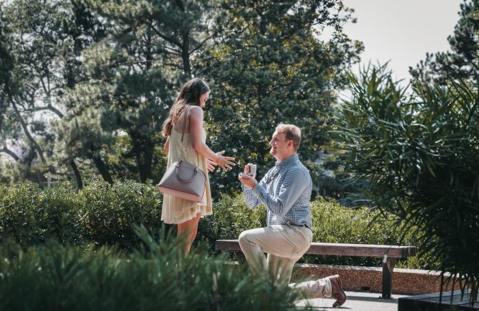Wedding Proposal Ideas in The Japanese Botanical Gardens, Fort Worth