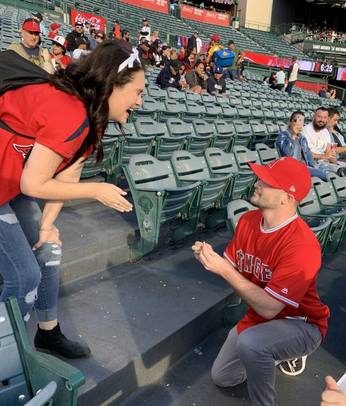 Danielle and Dylan's Engagement in Angels Stadium