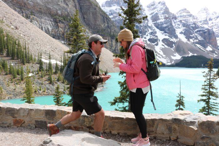 Engagement Proposal Ideas in Moraine Lake, Banff, Alberta, Canada