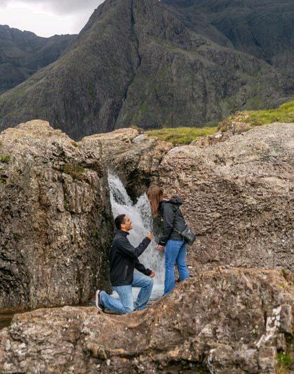 Megan's Proposal in Faerie Pools, Isle of Skye, Scotland