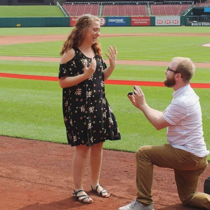 Proposal Ideas Busch Stadium, on the field to the left of home plate.