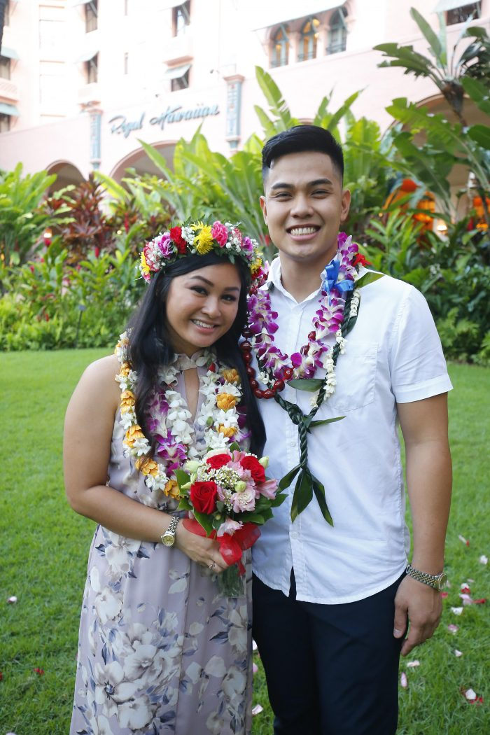 Naedine and Bryson's Engagement in Royal Hawaiian Hotel -Oahu