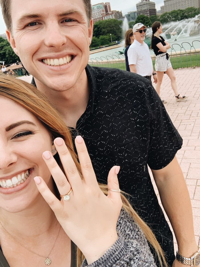 Wedding Proposal Ideas in Buckingham Fountain, Chicago, Illinois