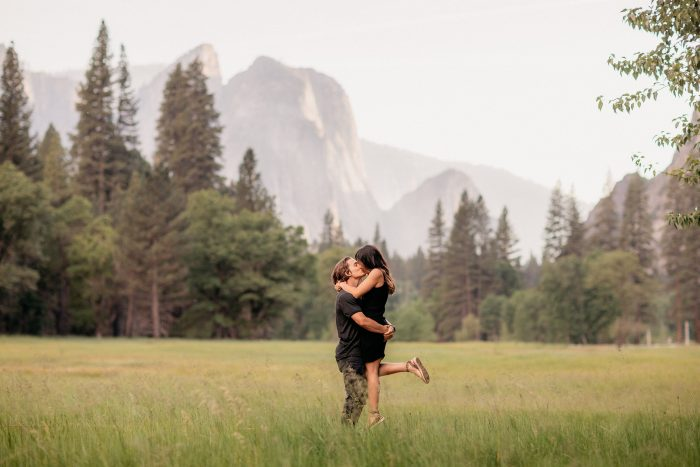 Marriage Proposal Ideas in Glacier Point, Yosemite National Park