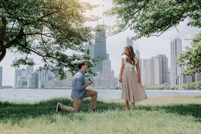 Kylie and Ilir's Engagement in Chicago, IL