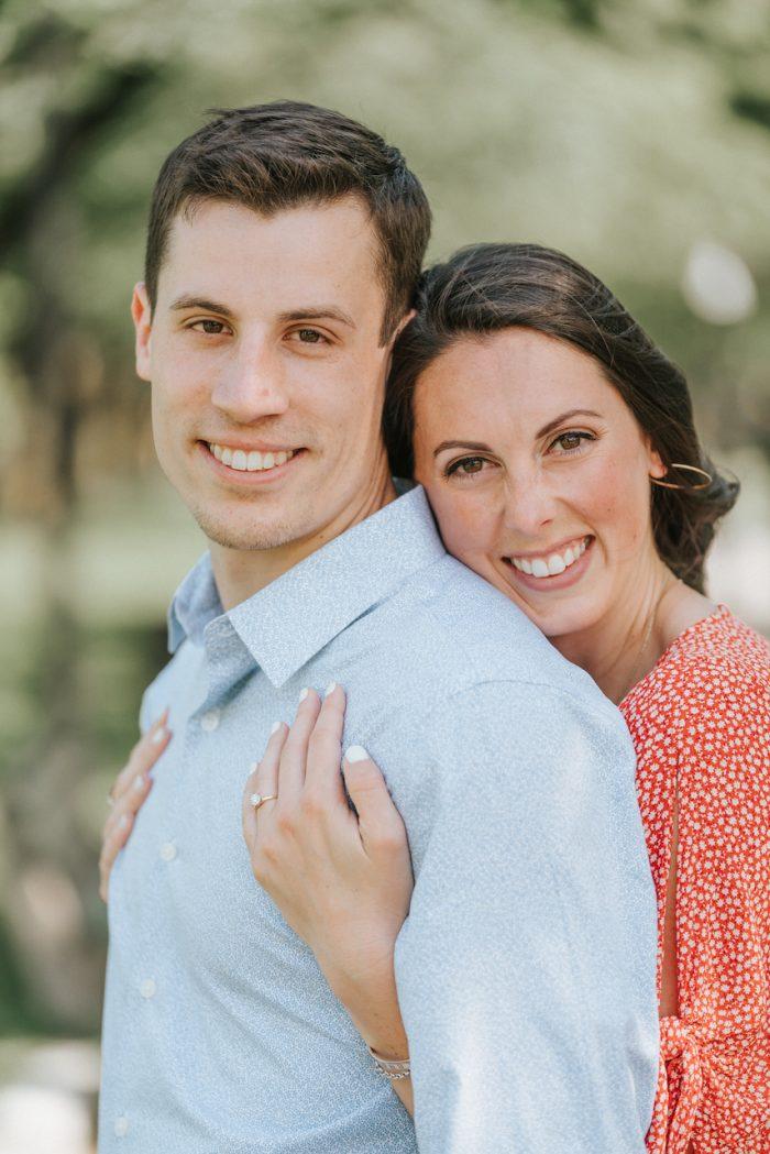 Brandon and Michelle's Engagement in Boston Public Garden
