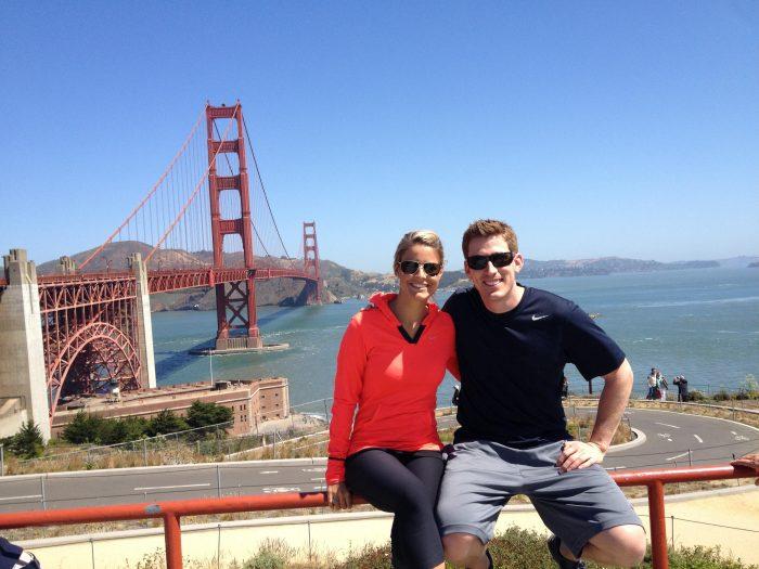 Kristen's Proposal in Stow Lake in Golden Gate Park in San Francisco