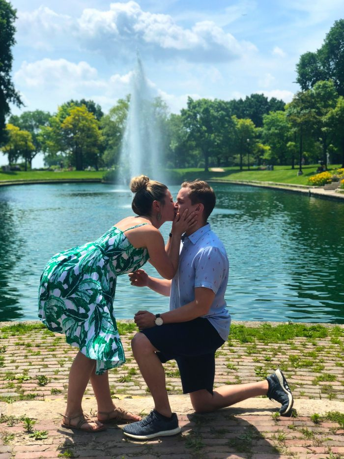 Where to Propose in Evanston Beach Front