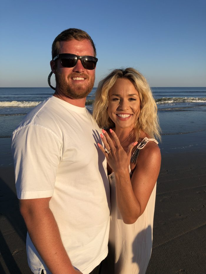 Engagement Proposal Ideas in On the beach at Pawleys Island, South Carolina