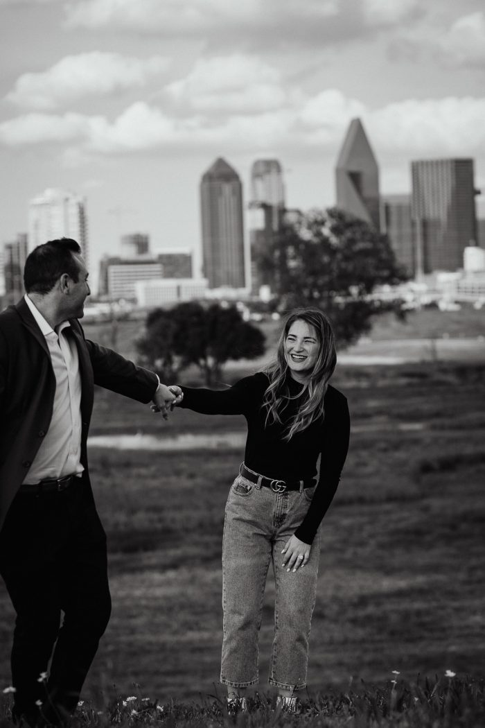 Engagement Proposal Ideas in Dallas Skyline