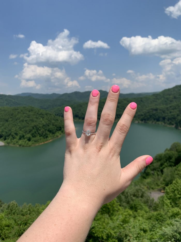 Heather's Proposal in RD Bailey Dam, Gilbert, WV