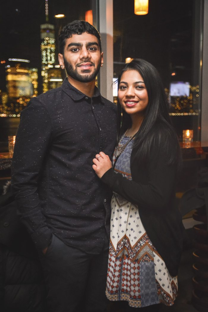 Megha and Bhavin's Engagement in Rooftop at Exchange Place, Jersey City, NJ