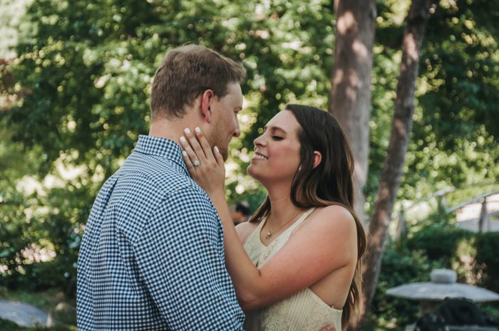 Caitlin's Proposal in The Japanese Botanical Gardens, Fort Worth