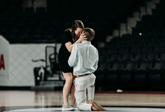 Kathleen and William's Engagement in Stegeman Coliseum at the University of Georgia