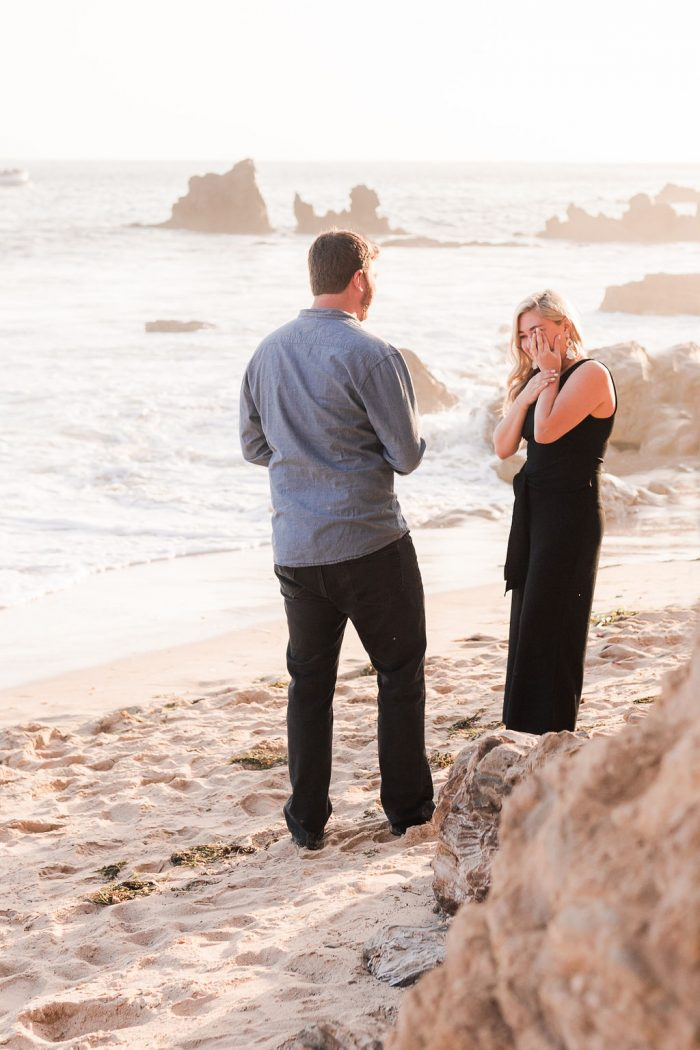 Jacqueline and Jason's Engagement in Little Corona Beach