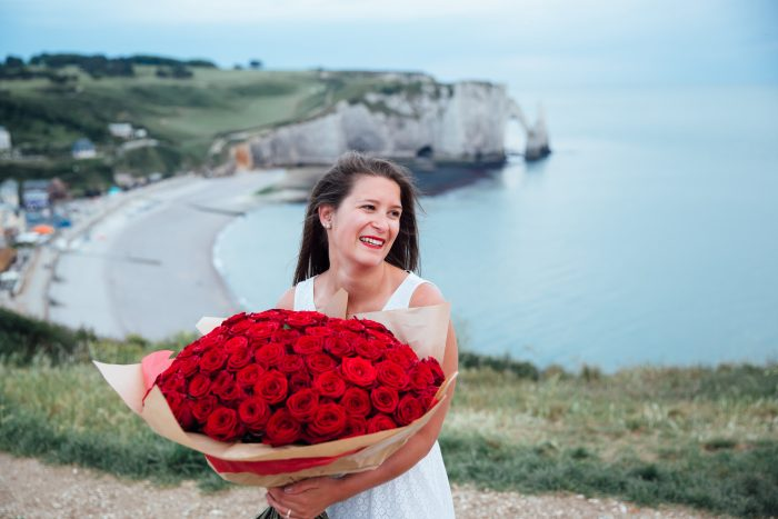 Wedding Proposal Ideas in Etretat, in Normandy, France
