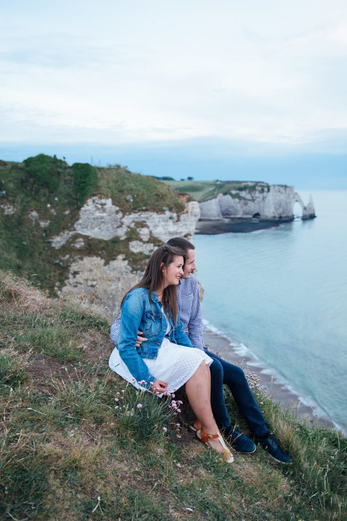 Mégan and Thomas's Engagement in Etretat, in Normandy, France