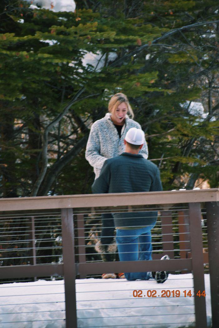 Emily's Proposal in Hanging Lake Trail in Glenwood Springs Colorado