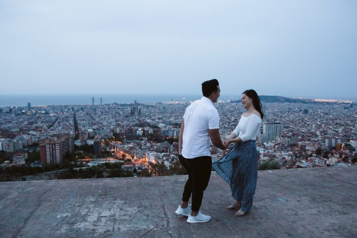Jessica's Proposal in Barcelona