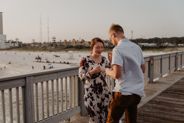 Megan's Proposal in The County Pier Panama City Beach