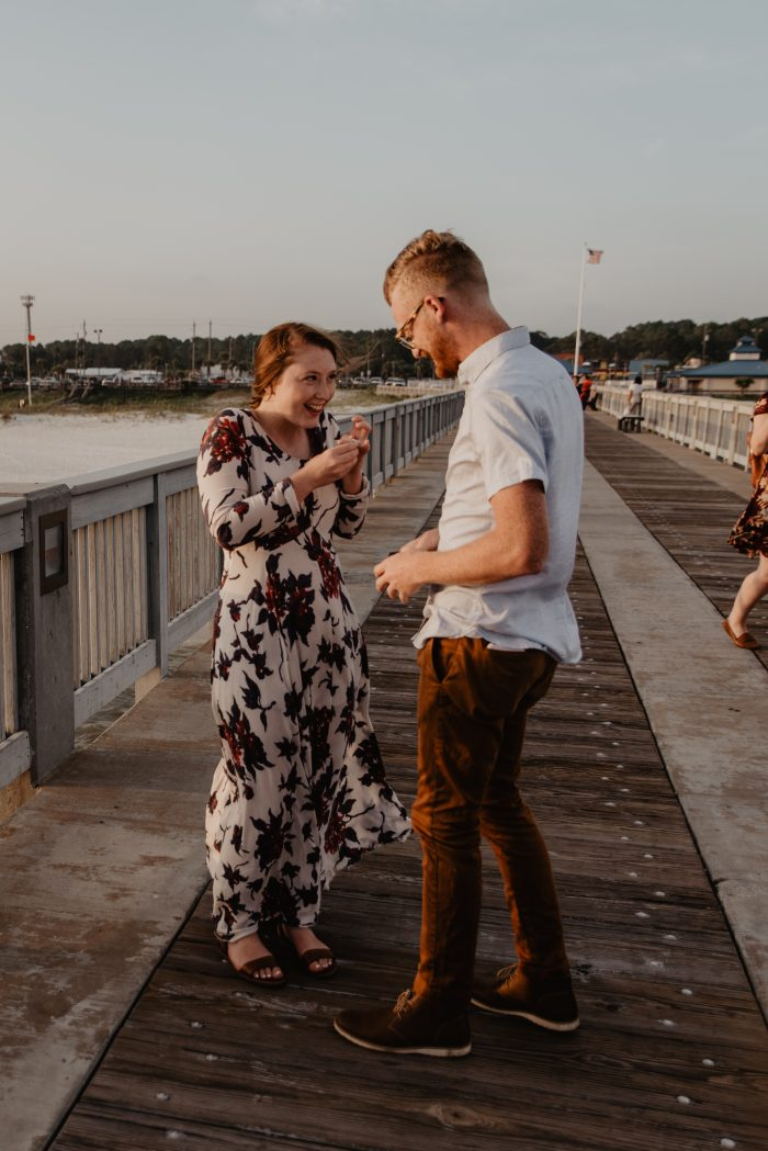 Engagement Proposal Ideas in The County Pier Panama City Beach