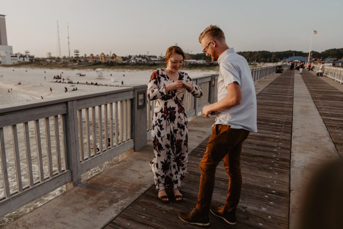 Megan and Taylor's Engagement in The County Pier Panama City Beach
