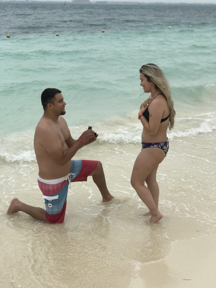 Josiany's Proposal in Cancun