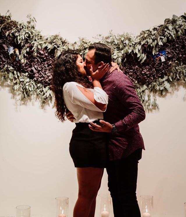 Kelly and Elmer's Engagement in Flower Vault Houston