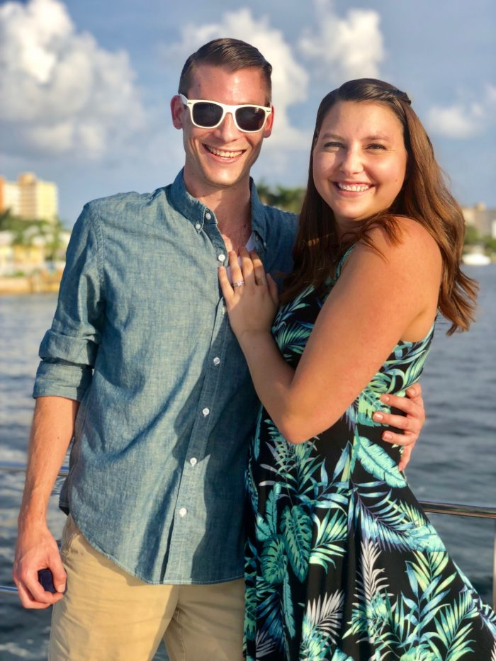 Where to Propose in On a 46 foot Catamaran cruising the canal waters of Fort Lauderdale