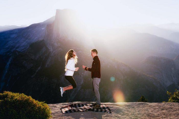 Wedding Proposal Ideas in Glacier Point, Yosemite