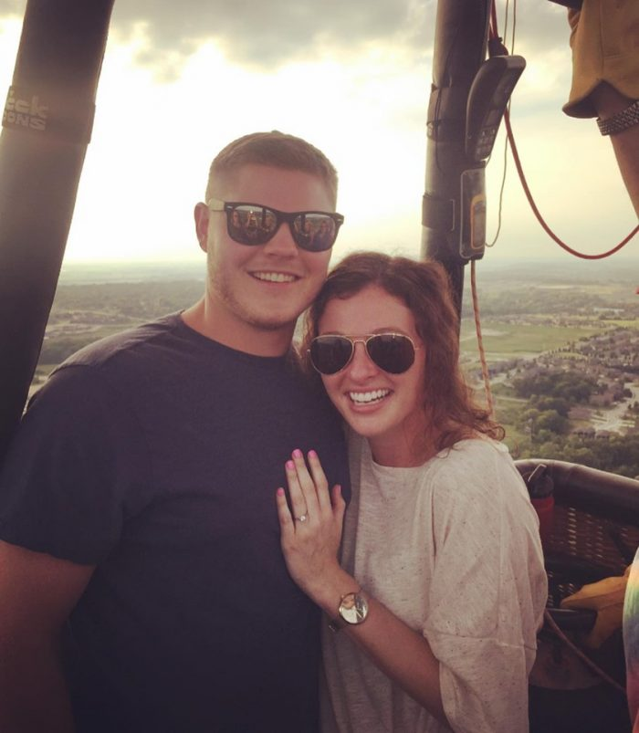 Wedding Proposal Ideas in Hot air balloon