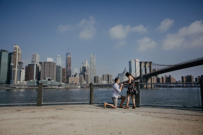 Alexis and Zach's Engagement in Brooklyn, New York