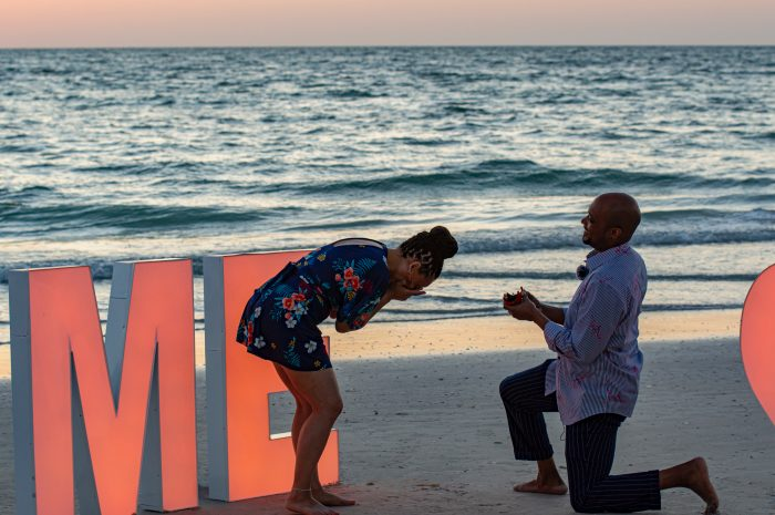 Edward Mosley's Proposal in North Clearwater Beach, FL