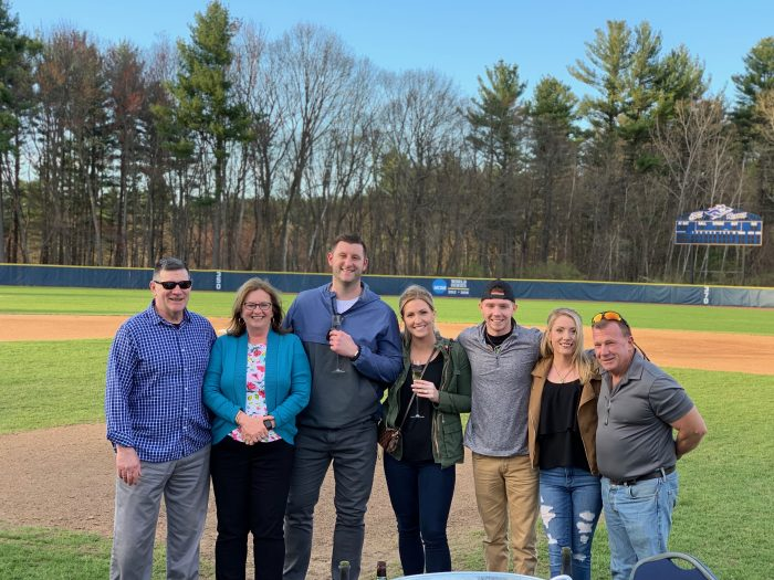 Where to Propose in Southern New Hampshire university baseball field
