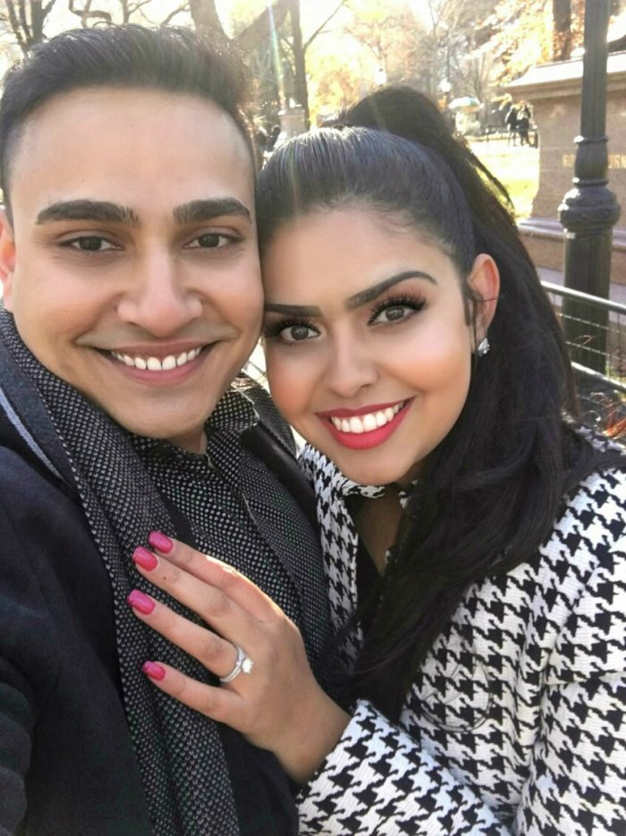 Roma's Proposal in Central Park, New York