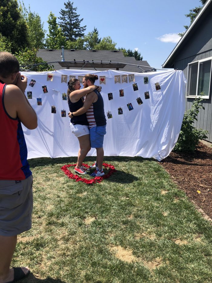 Where to Propose in Our house in the backyard