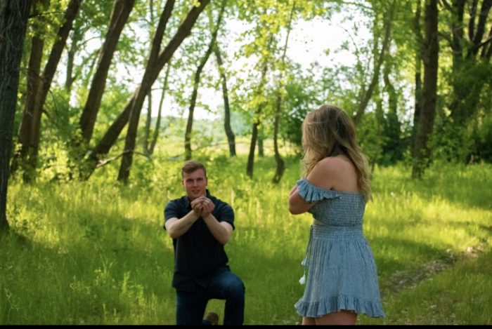 Alyssa's Proposal in near a lake in nature