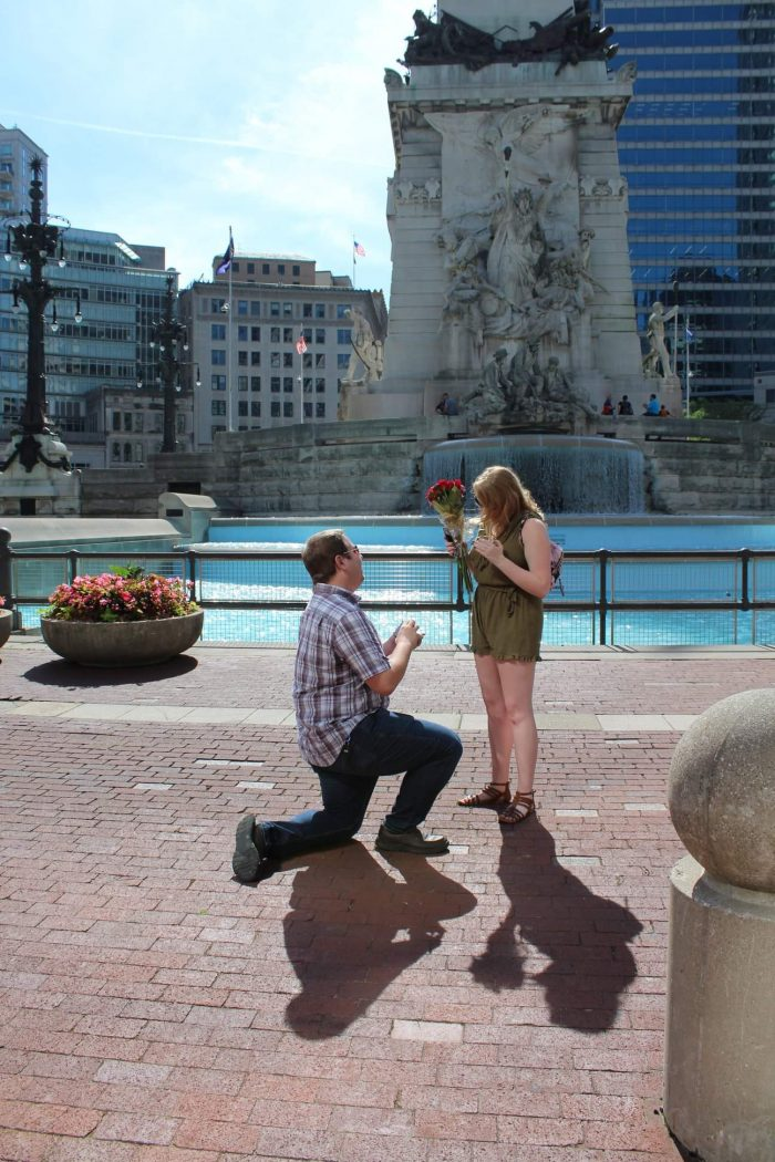Wedding Proposal Ideas in Monument Circle in Indianapolis