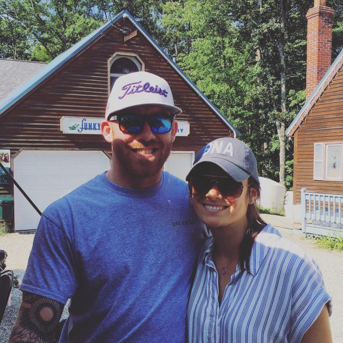 Dutch and Destinee's Engagement in Cobbosseecontee Lake in Litchfield, Maine